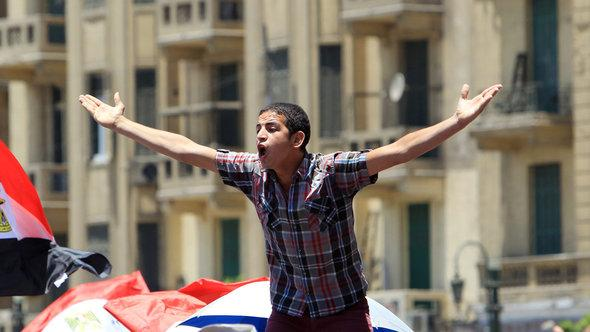 Protest auf dem Tahrir-Platz in Kairo; Foto: picture-alliance/dpa