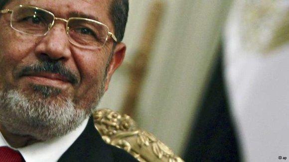 Ägyptens Präsident Mursi; Foto: AP