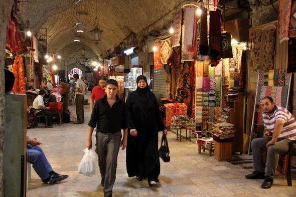 Der Souk von Aleppo; Foto: dpa