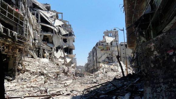Zerstörungen in der zentralsyrischen Stadt Homs; Foto: Reuters