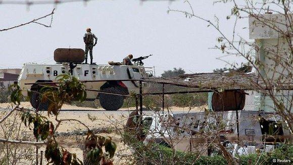 Ägyptisches Militär auf dem Sinai; Foto: Reuters