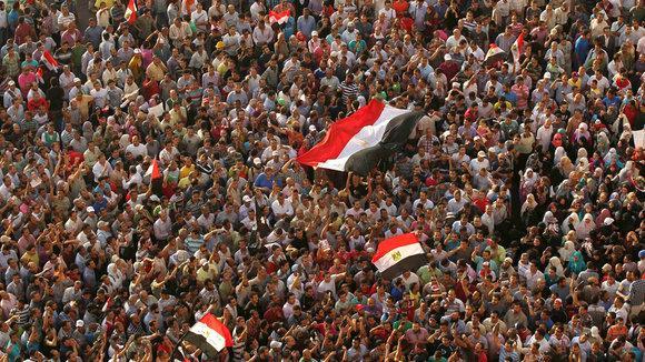 Demonstranten auf dem Tahrir-Platz