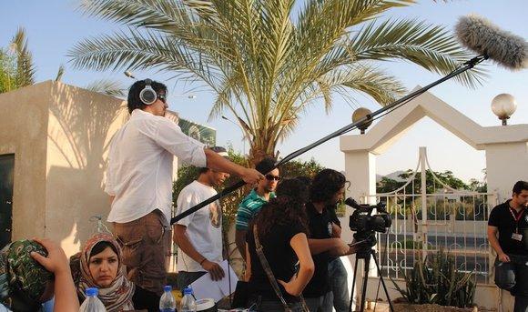 RSICA-Studenten am Filmset; Foto: © www.rsica.edu.jo