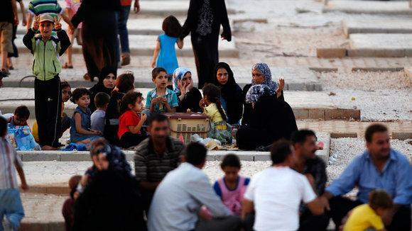 Flüchtlinge in der türkischen Hatay-Provinz; Foto: Reuters