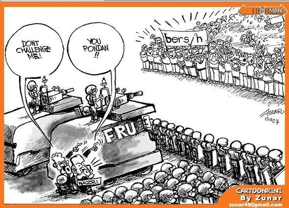 Cartoon von Zunar; Foto: bikyamasr.com