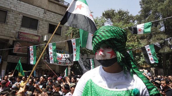 Bevölkerung feiert in der von der FSA befreiten syrischen Stadt Yabroud; Foto: DW