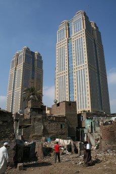 Die Nile City Towers im Stadtteil Bulak in Kairo; Foto: Markus Symank