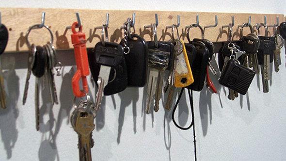 Konfiszierte Schlüssel - Ausstellungsexponat; Foto: © Breaking the Silence