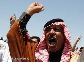 Protest gegen das jordanische Königshaus in Amman; Foto: dpa