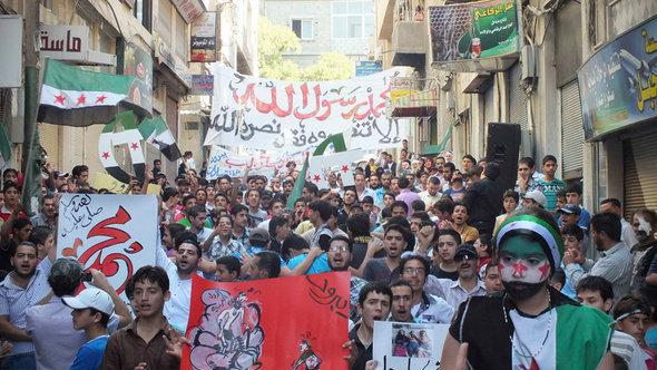 Protests against the Assad regime in Yabroud (photo: Reuters)