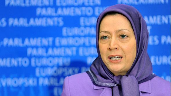 Maryam Rajavi, Präsidentin des Nationalen Widerstandsrates im Iran (NWRI), der Volksmudschahedin; Foto: AFP/Getty Images