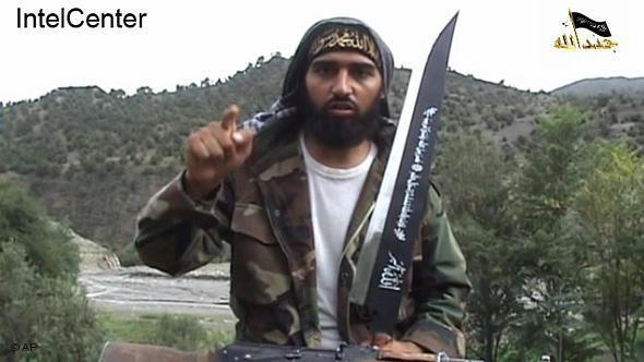Ausschnitt aus einem Propagandavideo der extremistischen Jundallah zeigt den aus Deutschland stammenden Dschihadisten Abu Askar als Kämpfer der Islamischen Bewegung Usbekistans (IBU), Foto: AP