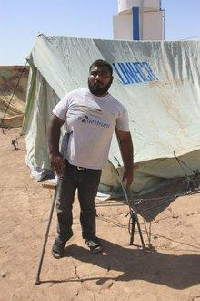 Kurdischer Flüchtling Amin im Flüchtlingslager Domiz, Foto: Jan Kuhlmann