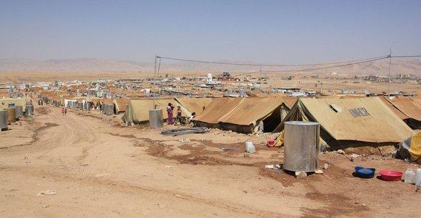Flüchtlingslager Domiz im Nordirak; Foto: Jan Kuhlmann