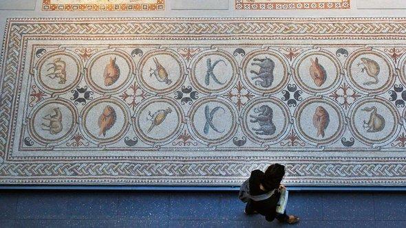 Spätrömisches Mosaik aus dem arabischen Raum; Foto: AP