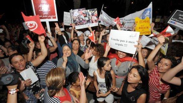 Proteste gegen Verfassungsänderung in Tunis; Foto: Getty Images