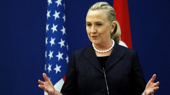 US-Außenministerin Hillary Clinton; Foto: picture-alliance/dpa