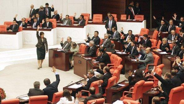 Abstimmung über mögliche Militäreinsätze der Türkei im Parlament von Ankara; Foto: AFP/Getty Images