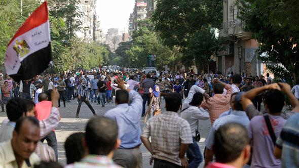 Proteste gegen Mohammed Mursi in Kairo; Foto: AP