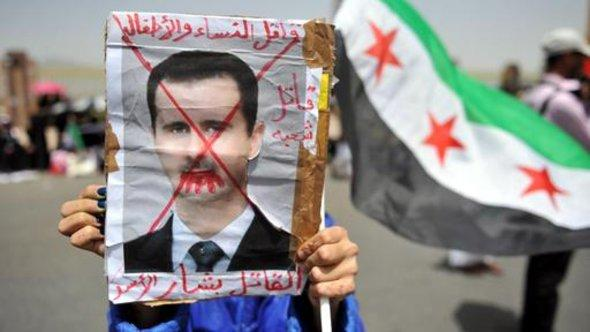 Demonstration gegen das Assad-Regime; Foto: dpa