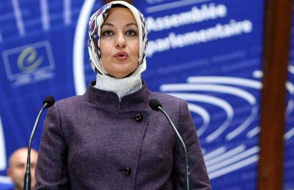 Hayrünnisa Gül während einer Rede vor dem Europarat, Foto: AP