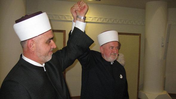 Hussein Kavazovic (links) und Mustafa Ceric; Foto: DW