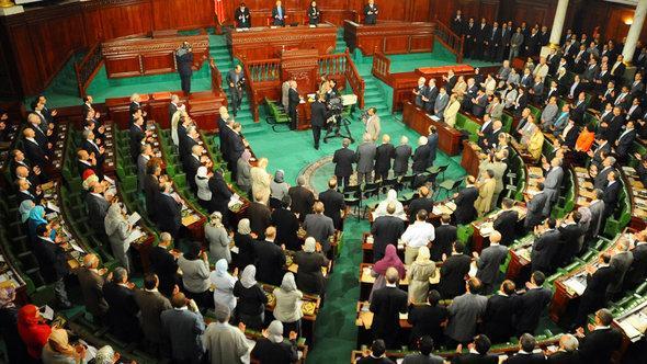 Die Verfassungsgebende Versammlung in Tunesien; Foto: Hassene Dridi/AP/dapd