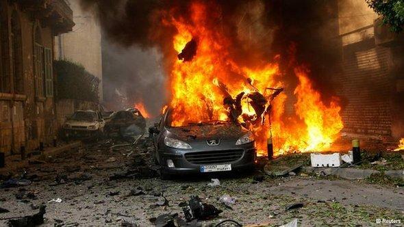 Sprengstoffanschlag auf dem Sassine-Platz im Beiruter Christen-Viertel Aschrafijeh; Foto: Reuters