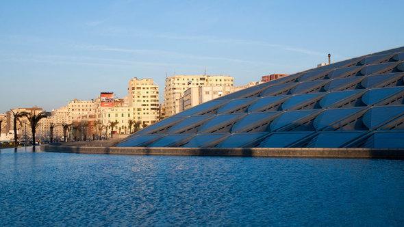 Die Bibliotheca Alexandrina; Foto: dpa/master