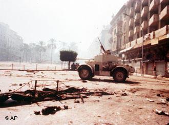 Beirut im Jahr 1975 zur Zeit des Bürgerkriegs; Foto: AP