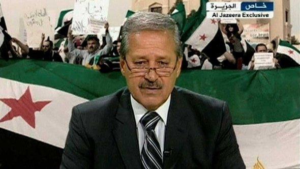 Ex-Botschafter Syriens im Irak auf Al-Jazeera, Foto: Reuters