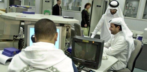 Newsroom Al-Jazeera, Foto: ddp images/AP