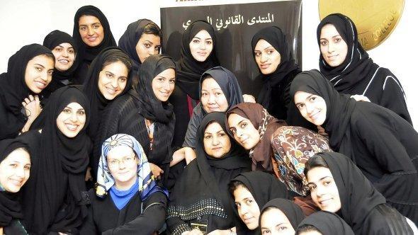 Studentinnen des Dar Al-Hekma Colleges in Jeddah, Saudi-Arabien; Foto: dpa