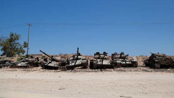 Panzerfriedhof in Misrata; Foto: picture alliance/abaca