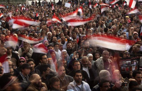 مظاهرات عام 2011 ضد مبارك. أ ب