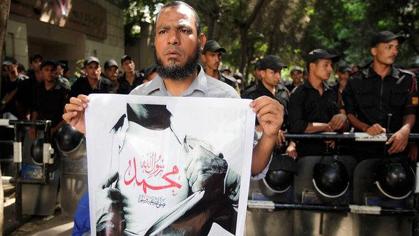 A Salafist during a protest rally in Cairo (photo: Reuters)