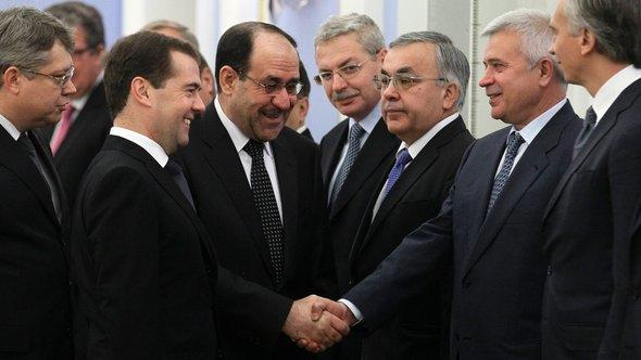 Nuri al-Maliki zu Besuch bei Dmitry Medvedev in Moskau; Foto: Reuters