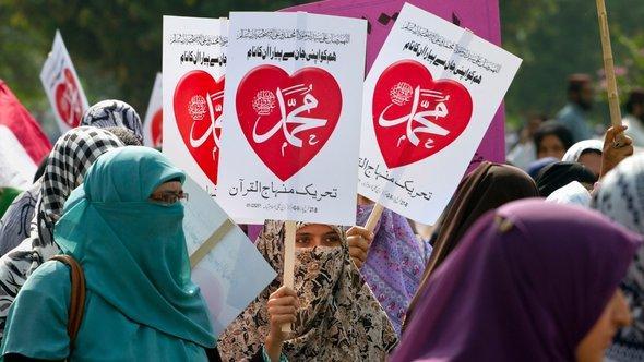 Proteste gegen Mohammed-Schmähvideo in Pakistan; Foto: AP