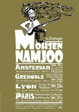 Poster of the Namjoo's concert-tour in Europe 2012