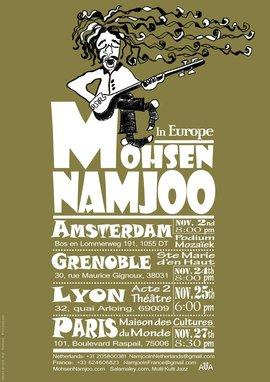Plakat Namjoo-Konzert-Tournee in Europa 2012