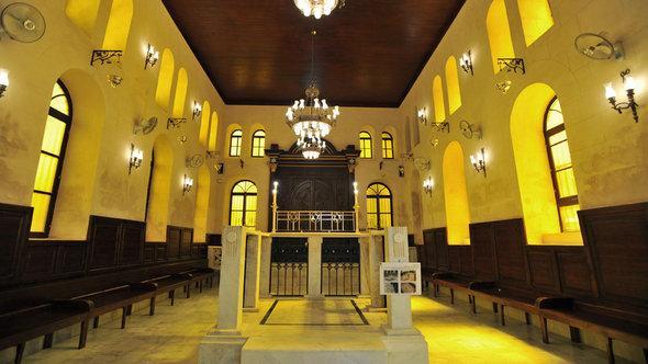 Die Maimonides-Synagoge im ehemaligen jüdischen Viertel Haret al-Yahoud von Kairo; Foto: picture-alliance