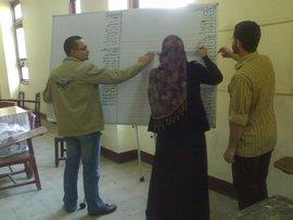 Wahlkomittee bei der Erstellung von Kandidatenlisten, Ain Shams Universität, Foto: Fabian Schmidmeier