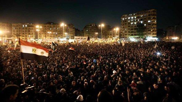 Demonstranten auf dem Tahrir-Platz in Kairo, 27. November 2012; Foto: dapd