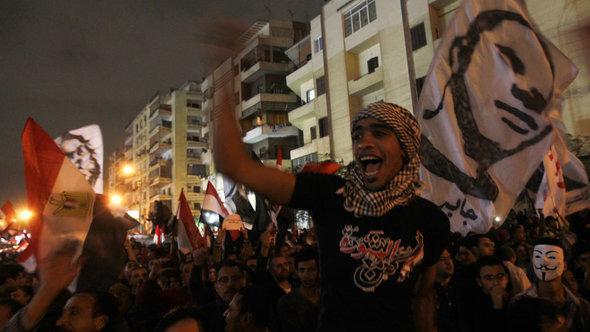 Gegner Mursis demonstrieren am 4. Dezember am Präsidentenpalast; Foto: Reuters