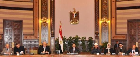 Regierungssitzung im Präsidentenpalast am 8.12.2012; Foto: Reuters
