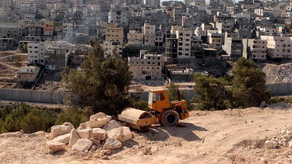 Siedlungsbau in Ostjerusalem; Foto: dpa