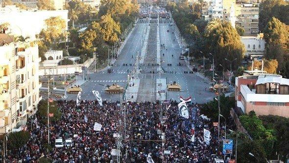 Proteste vor dem Präsidentenpalast in Kairo am 7. Dezember; Foto: Reuters