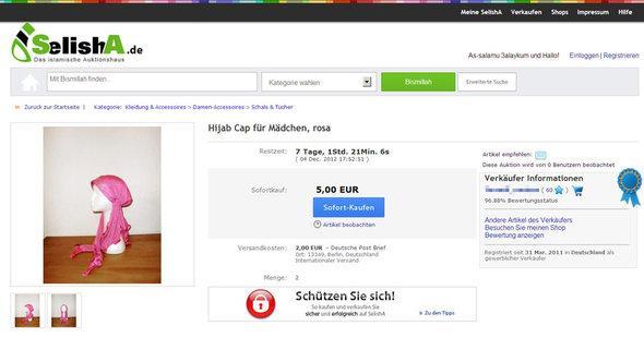 Screenshot Selisha.de