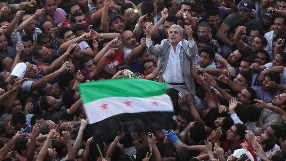 Sabahi auf dem Tahrir-Platz; Foto: Reuters