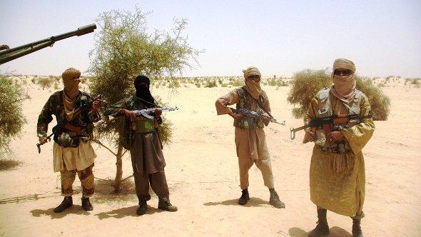 Bewafnete Islamisten der Ansar Dine; Foto: dapd